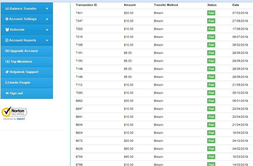 تاییدیه پرداخت دلاری سایت کلیکی استارکلیکس به صورت بیت کوین