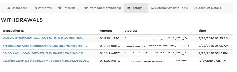 تایید پرداختی های سایت BTC Click