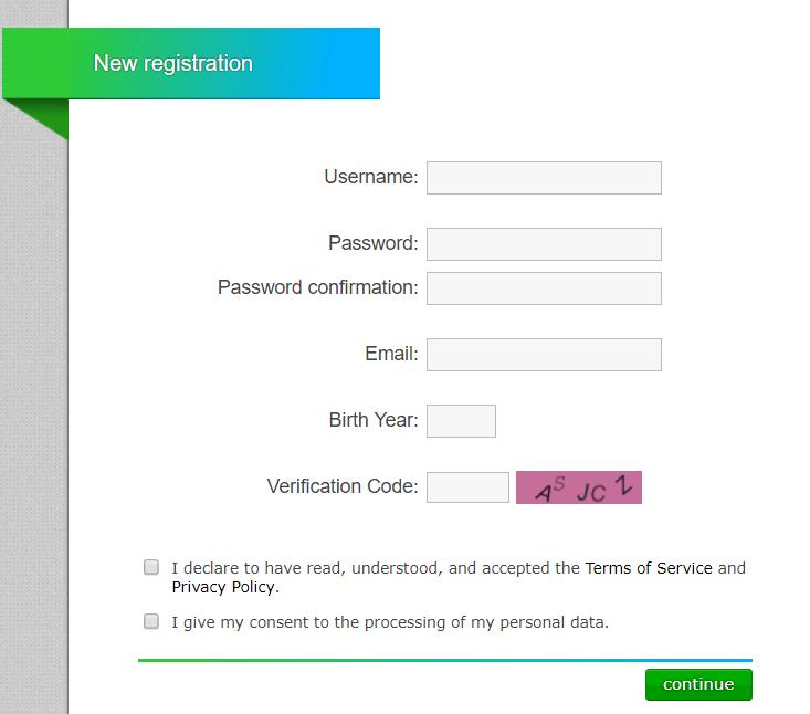 صفحه ثبت نام سایت نئوباکس
