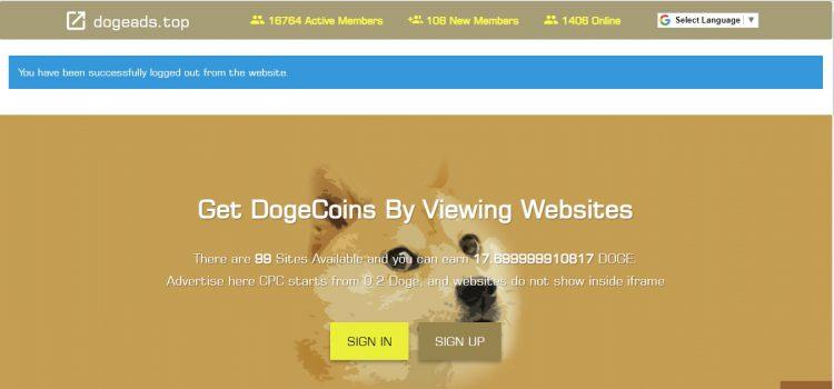 کسب درآمد اینترنتی از سایت کلیکیدوج ادز DogeAds